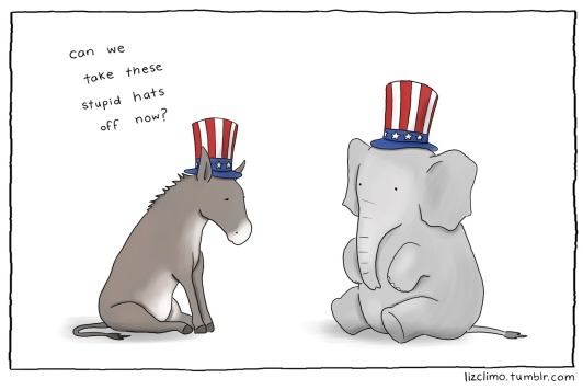 comics-donkey-and-elephant-patriots